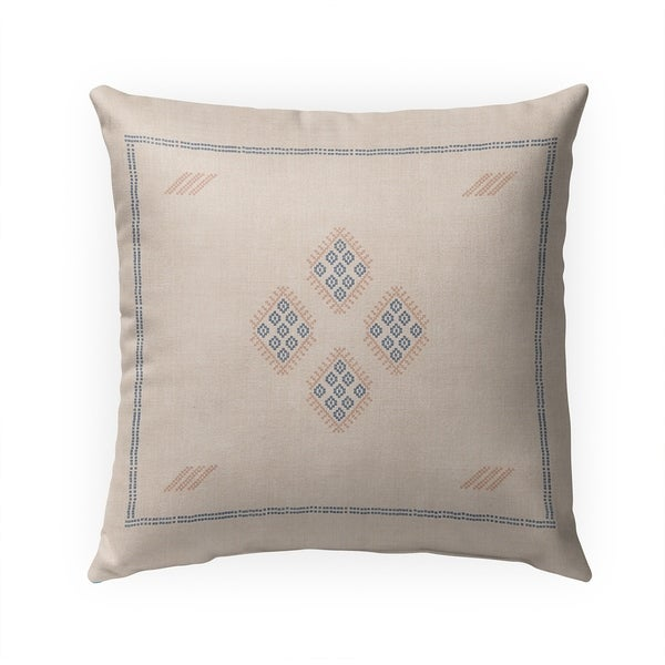 KILIM CREAM Indoor|Outdoor Pillow By Becky Bailey - N/A - 18X18