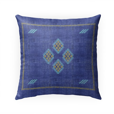 KILIM BRIGHT INDIGO Indoor Outdoor Pillow by Kavka Designs - 18X18