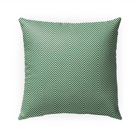 DEEP CHEVRON GREEN Indoor Outdoor Pillow by Kavka Designs - 18X18