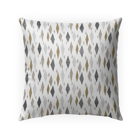 DANISH DIAMOND TAN Indoor Outdoor Pillow by Kavka Designs - 18X18