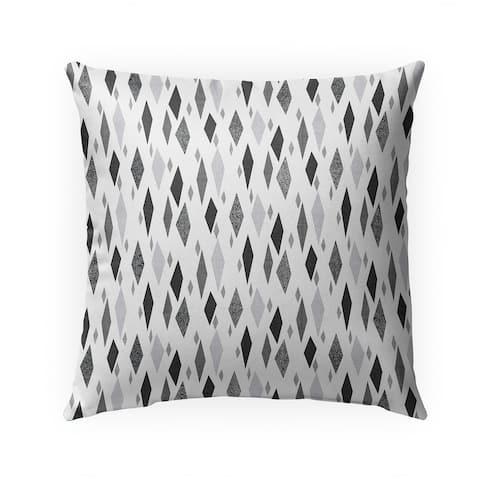 DANISH DIAMOND GREY Indoor Outdoor Pillow by Kavka Designs - 18X18
