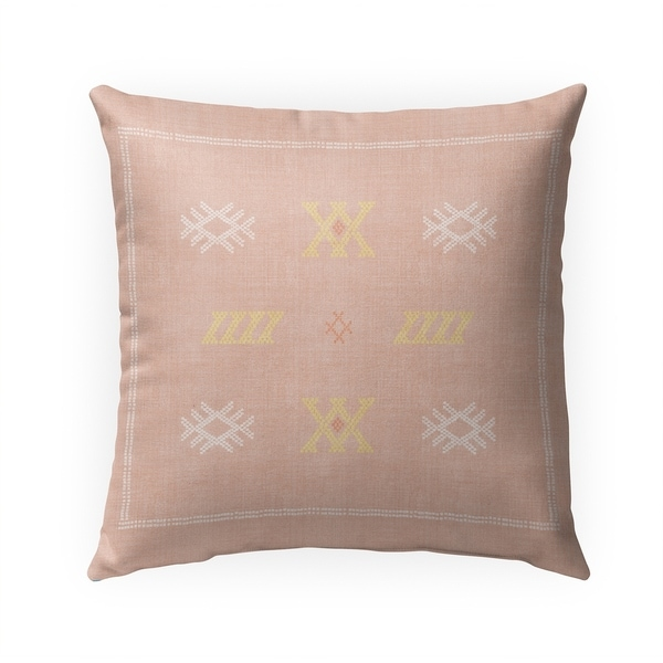 CASABLANCA KILIM DUSTY ROSE Indoor|Outdoor Pillow By Becky Bailey - 18X18