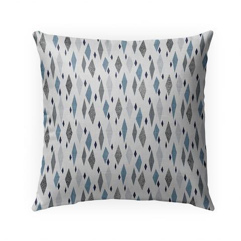 DANISH DIAMOND BLUE GREY Indoor Outdoor Pillow by Kavka Designs - 18X18