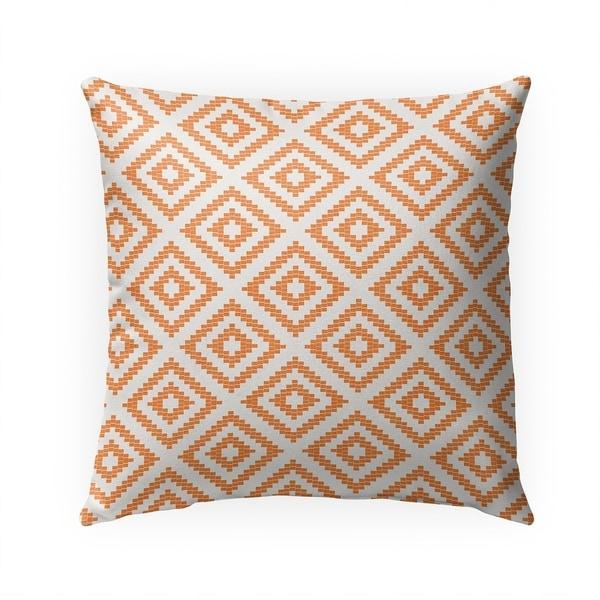 STAIRSTEP DIAMOND ORANGE Indoor|Outdoor Pillow By Becky Bailey - 18X18