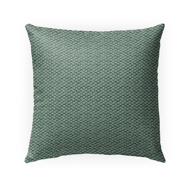 FISH SCALES GREEN Indoor|Outdoor Pillow By Becky Bailey - 18X18