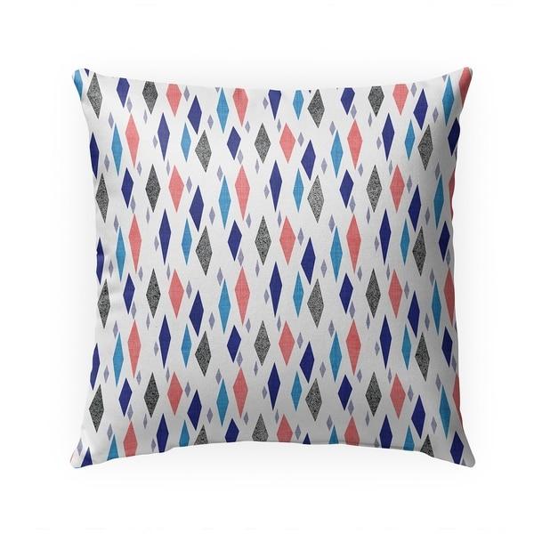 DANISH DIAMOND PINK BLUE Indoor|Outdoor Pillow By Becky Bailey - 18X18