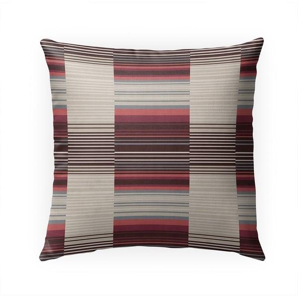 BAUHAUS STRIPE MULTI Indoor|Outdoor Pillow By Becky Bailey - 18X18