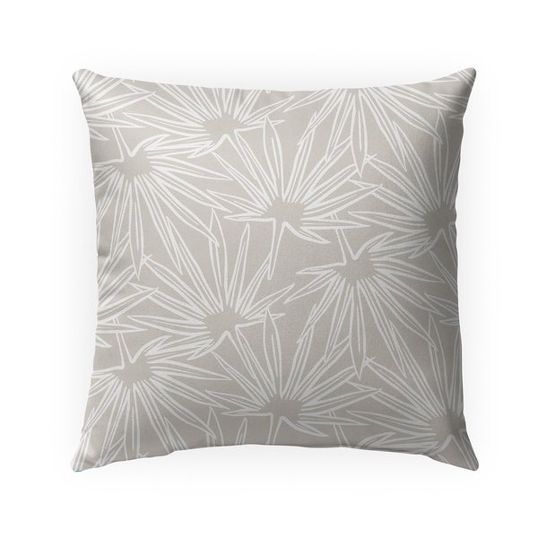 FAN NEUTRAL Indoor Outdoor Pillow By Becky Bailey - 18X18
