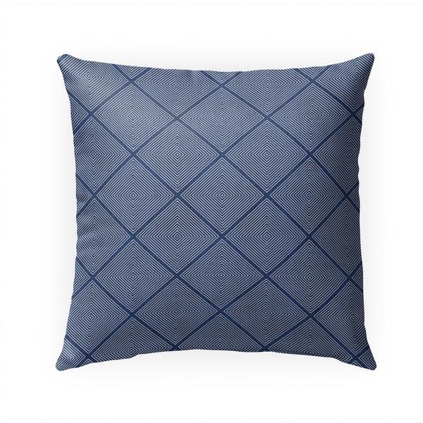 STICH TRIBAL DIAMOND INDIGO Indoor|Outdoor Pillow By Becky Bailey - 18X18