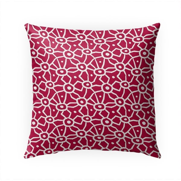 DOODLE RED Indoor|Outdoor Pillow By Becky Bailey - 18X18