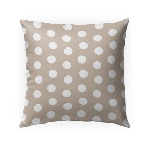 BIG POLKA DOTS TAN Indoor Outdoor Pillow by Kavka Designs - 18X18