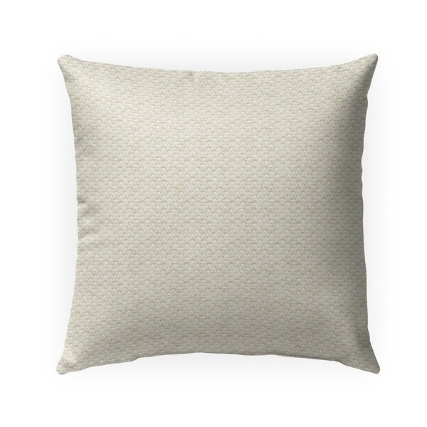 FISH SCALES CREAM Indoor|Outdoor Pillow By Becky Bailey - N/A - 18X18