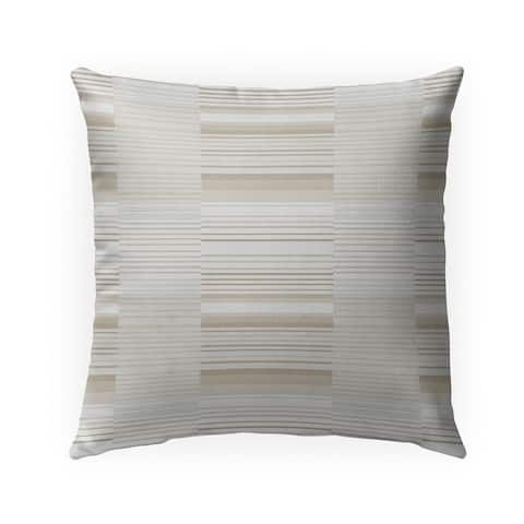 BAUHAUS STRIPE BEIGE SMALL SCALE REPEAT Indoor Outdoor Pillow by Kavka Designs - 18X18