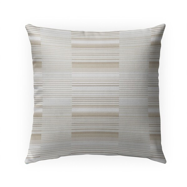 BAUHAUS STRIPE BEIGE SMALL SCALE REPEAT Indoor|Outdoor Pillow By Becky Bailey - 18X18