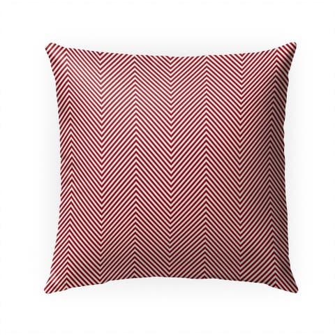 DEEP CHEVRON RED Indoor Outdoor Pillow by Kavka Designs - 18X18