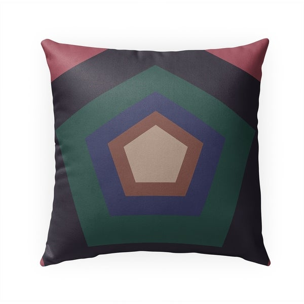 HEX GREEN Indoor|Outdoor Pillow By Becky Bailey - N/A - 18X18