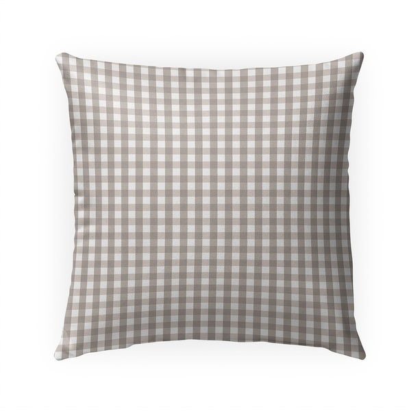 SMALL PLAID BEIGE Indoor|Outdoor Pillow By Becky Bailey - N/A - 18X18