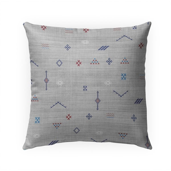 CACTUS SOFT GREY Indoor|Outdoor Pillow By Becky Bailey - 18X18