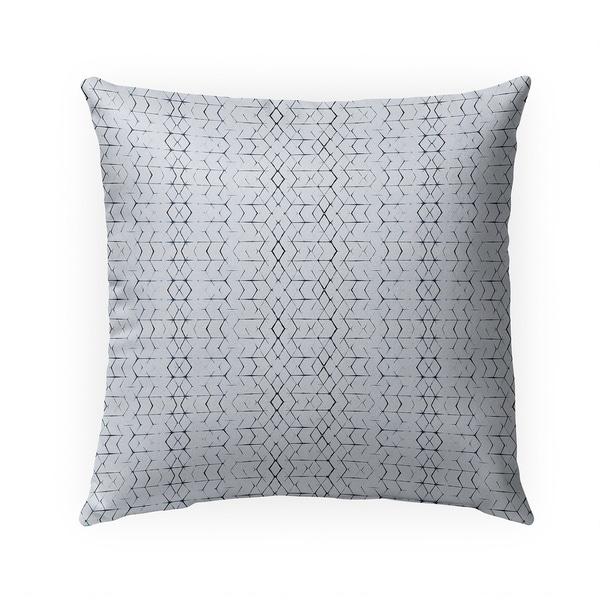 SHIBORI DIAMONDS BLUE Indoor|Outdoor Pillow By Becky Bailey - 18X18