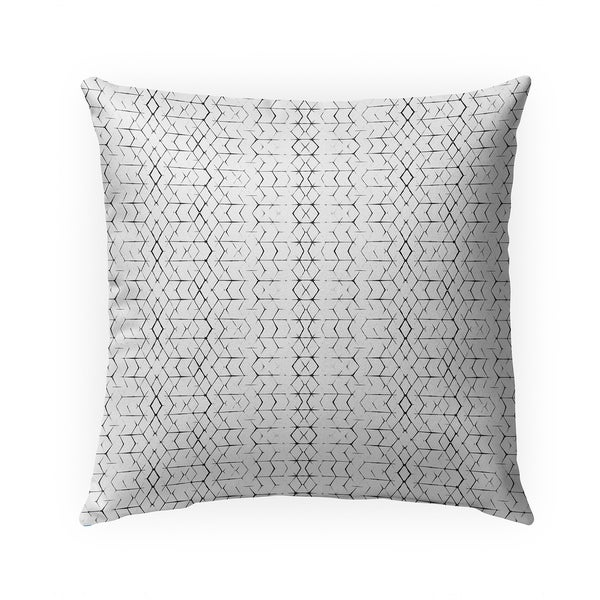 SHIBORI DIAMONDS B+W Indoor|Outdoor Pillow By Becky Bailey - 18X18