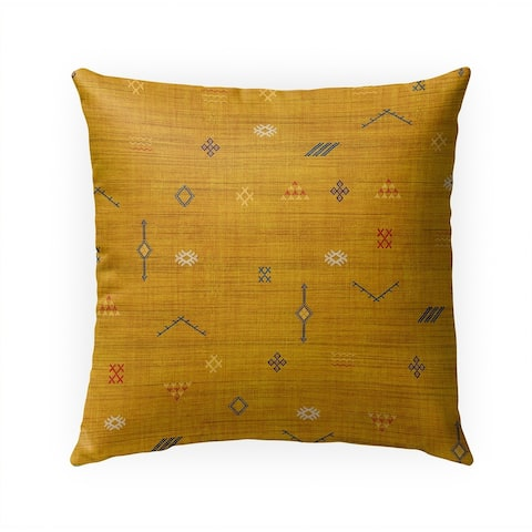 CACTUS SOFT MUSTARD Indoor Outdoor Pillow By Becky Bailey - 18X18