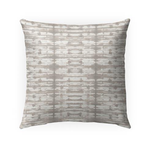 X-RAY SHIBORI BEIGE Indoor Outdoor Pillow by Kavka Designs - 18X18