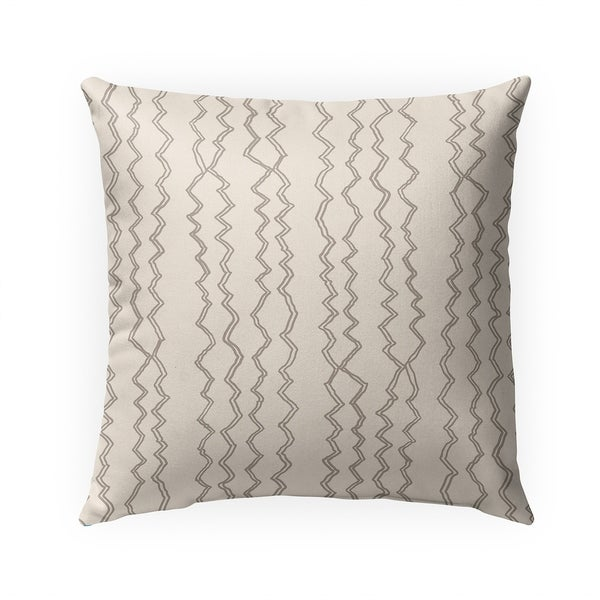 BERBER STRIPE NATURAL Indoor|Outdoor Pillow By Becky Bailey - 18X18