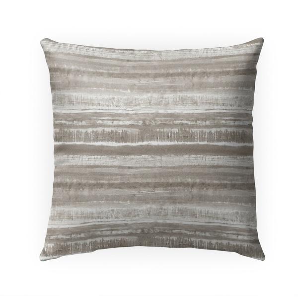 WASHY WATERCOLOR STRIPE DESERT Indoor|Outdoor Pillow By Becky Bailey - 18X18