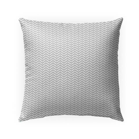 MINI CHEVRON LIGHT GREY Indoor Outdoor Pillow by Kavka Designs - 18X18