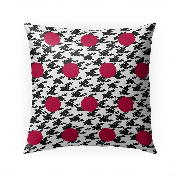 HARRIS BLACK AND RED Indoor|Outdoor Pillow By Becky Bailey - 18X18