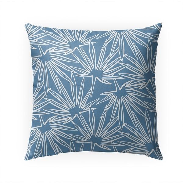 FAN CERULEAN Indoor|Outdoor Pillow By Becky Bailey - 18X18