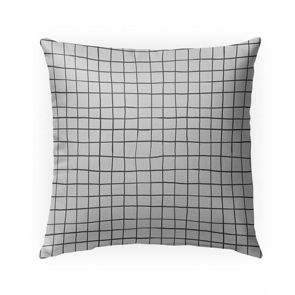 GRIDLINES GREIGE Indoor|Outdoor Pillow By Becky Bailey - 18X18