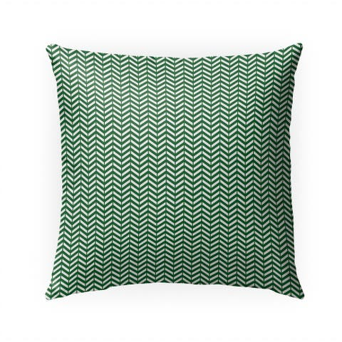 MINI CHEVRON GREEN Indoor Outdoor Pillow by Kavka Designs - 18X18