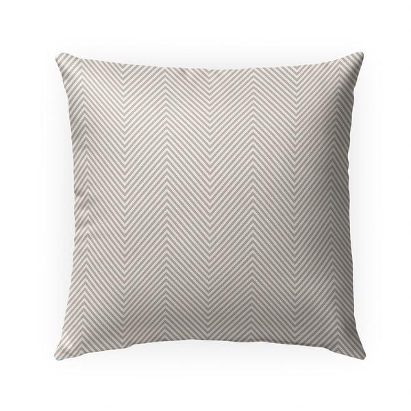 DEEP CHEVRON BEIGE Indoor|Outdoor Pillow By Becky Bailey - N/A - 18X18