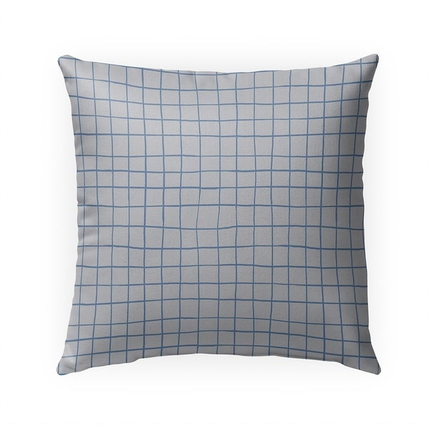 GRIDLINES BLUE Indoor|Outdoor Pillow By Becky Bailey - 18X18