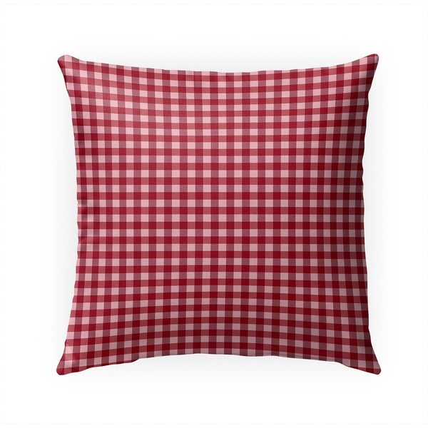 SMALL PLAID RED Indoor|Outdoor Pillow By Becky Bailey - 18X18