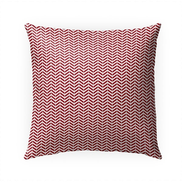 MINI CHEVRON RED Indoor|Outdoor Pillow By Becky Bailey - 18X18