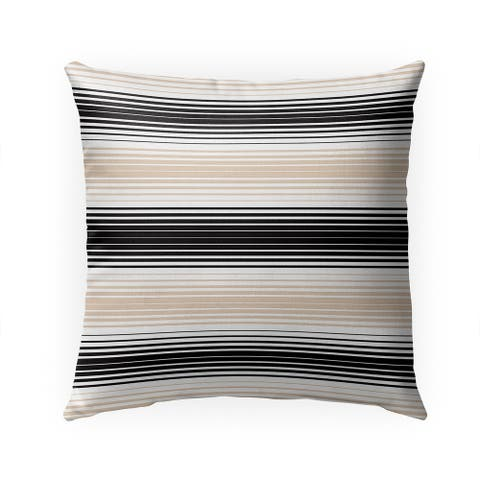 SERAPE STRIPES TAN Indoor Outdoor Pillow by Kavka Designs - 18X18