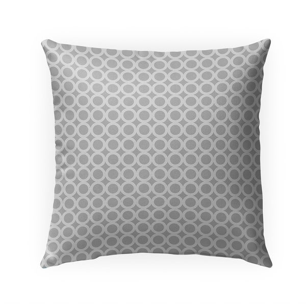 SIMPLE CIRCLES GREY Indoor|Outdoor Pillow By Becky Bailey - 18X18