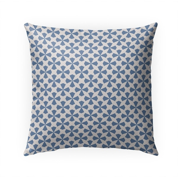 STARBURST PERIWINKLE Indoor Outdoor Pillow By Becky Bailey - 18X18