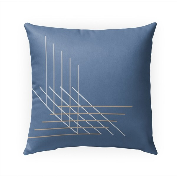 PERSPECTIVE BLUE Indoor Outdoor Pillow By Becky Bailey - 18X18