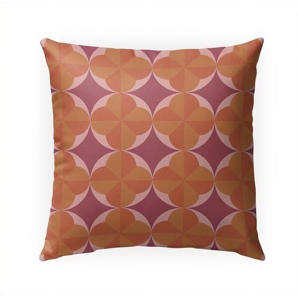 PINWHEEL ORANGE Indoor|Outdoor Pillow By Becky Bailey - 18X18