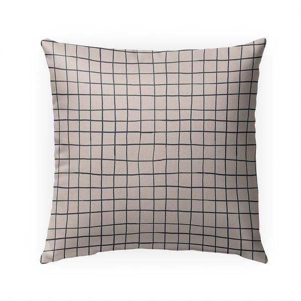 GRIDLINES TAN Indoor Outdoor Pillow By Becky Bailey - 18X18