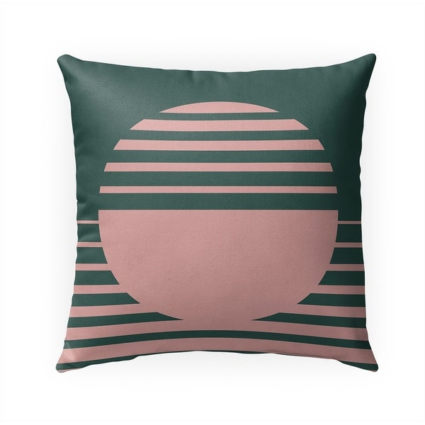 RISING SUN GREEN Indoor|Outdoor Pillow By Becky Bailey - 18X18