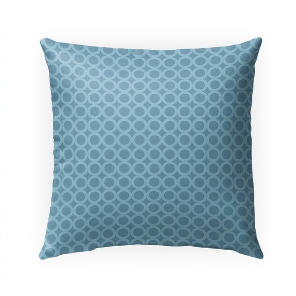 SIMPLE CIRCLES BLUE Indoor|Outdoor Pillow By Becky Bailey - 18X18