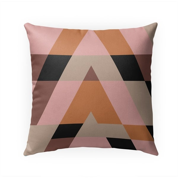 TRIANGLES PINK Indoor|Outdoor Pillow By Becky Bailey - 18X18