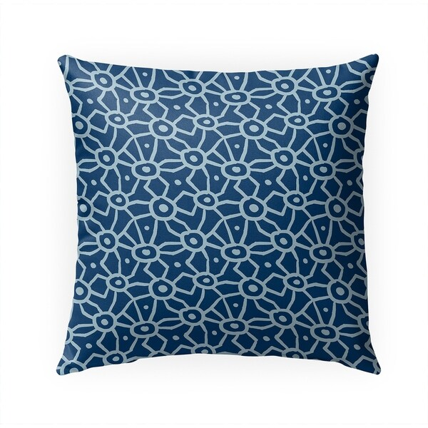 DOODLE BLUE Indoor|Outdoor Pillow By Becky Bailey - 18X18