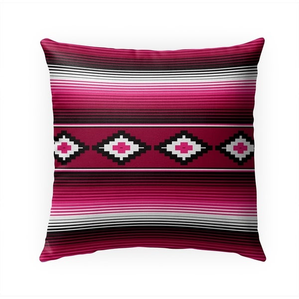 MODERN SERAPE MAGENTA Indoor Outdoor Pillow By Becky Bailey - 18X18