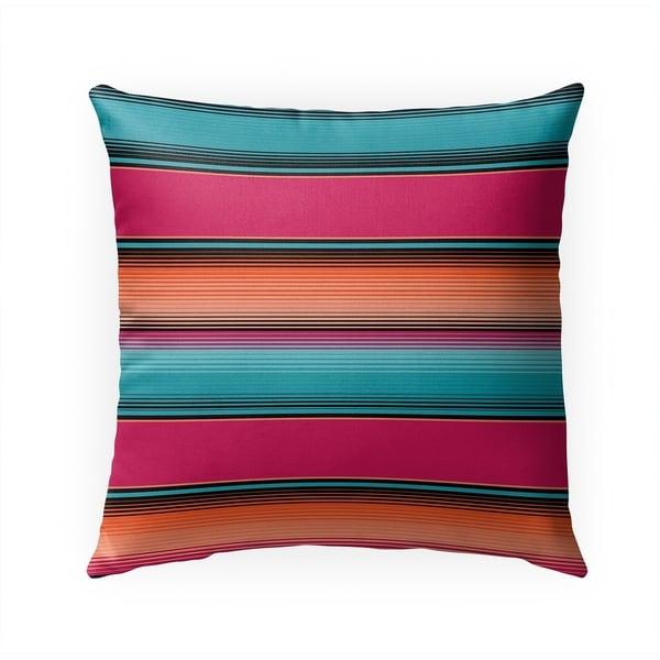 SALTILLO TEAL Indoor Outdoor Pillow By Becky Bailey - 18X18