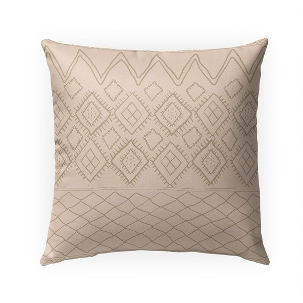 BENI MOROCCAN PRINT TAN Indoor|Outdoor Pillow By Becky Bailey - 18X18
